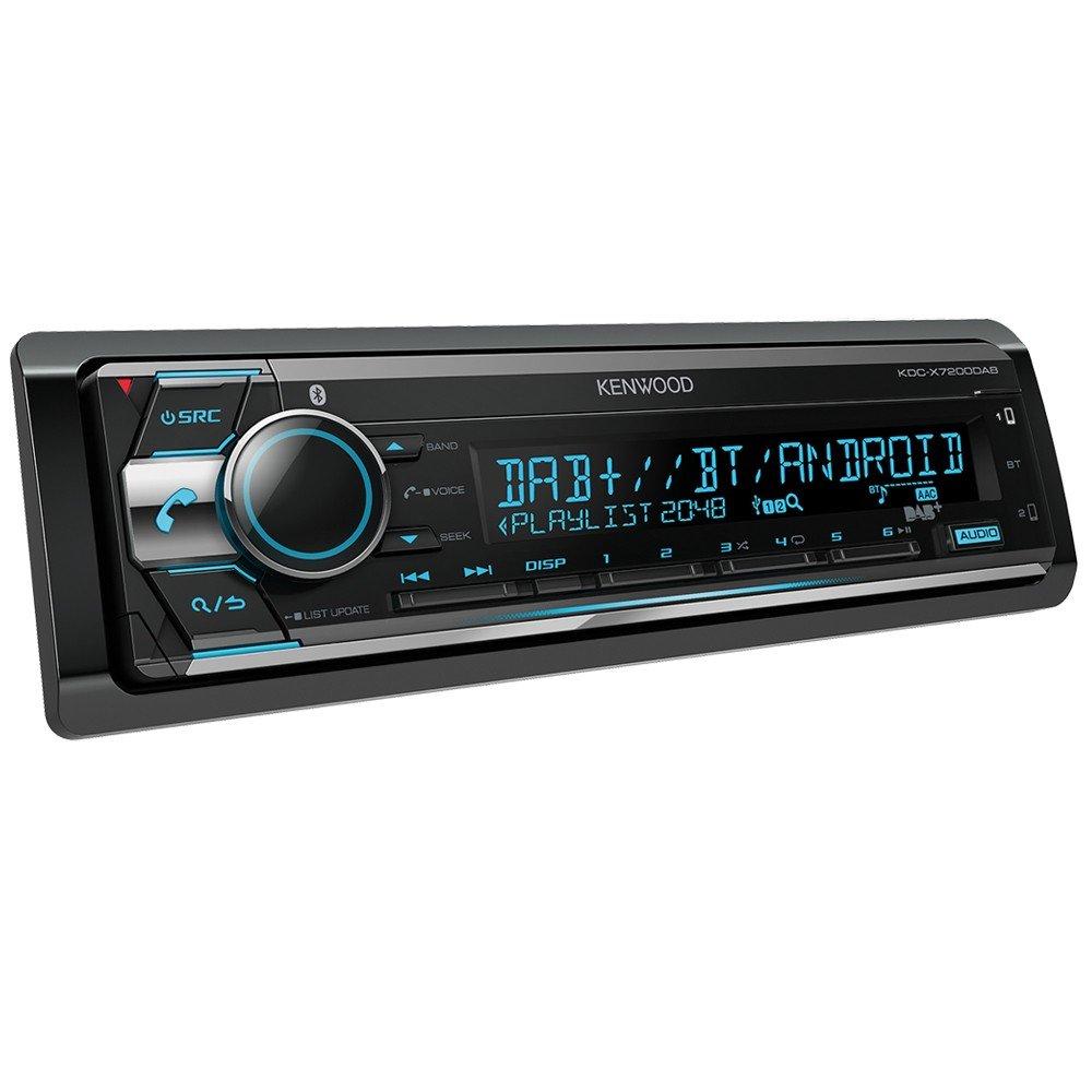 Kenwood KDC-X7200DAB Digitalautoradio mit Bluetooth-Freisprecheinrichtung und Apple iPod-Steuerung Schwarz KDCX7200DAB