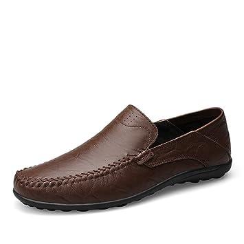 Hongjun-shoes, Mocasines Suaves de diseño Casual de Moda para Hombres Resbalón en Deslizador