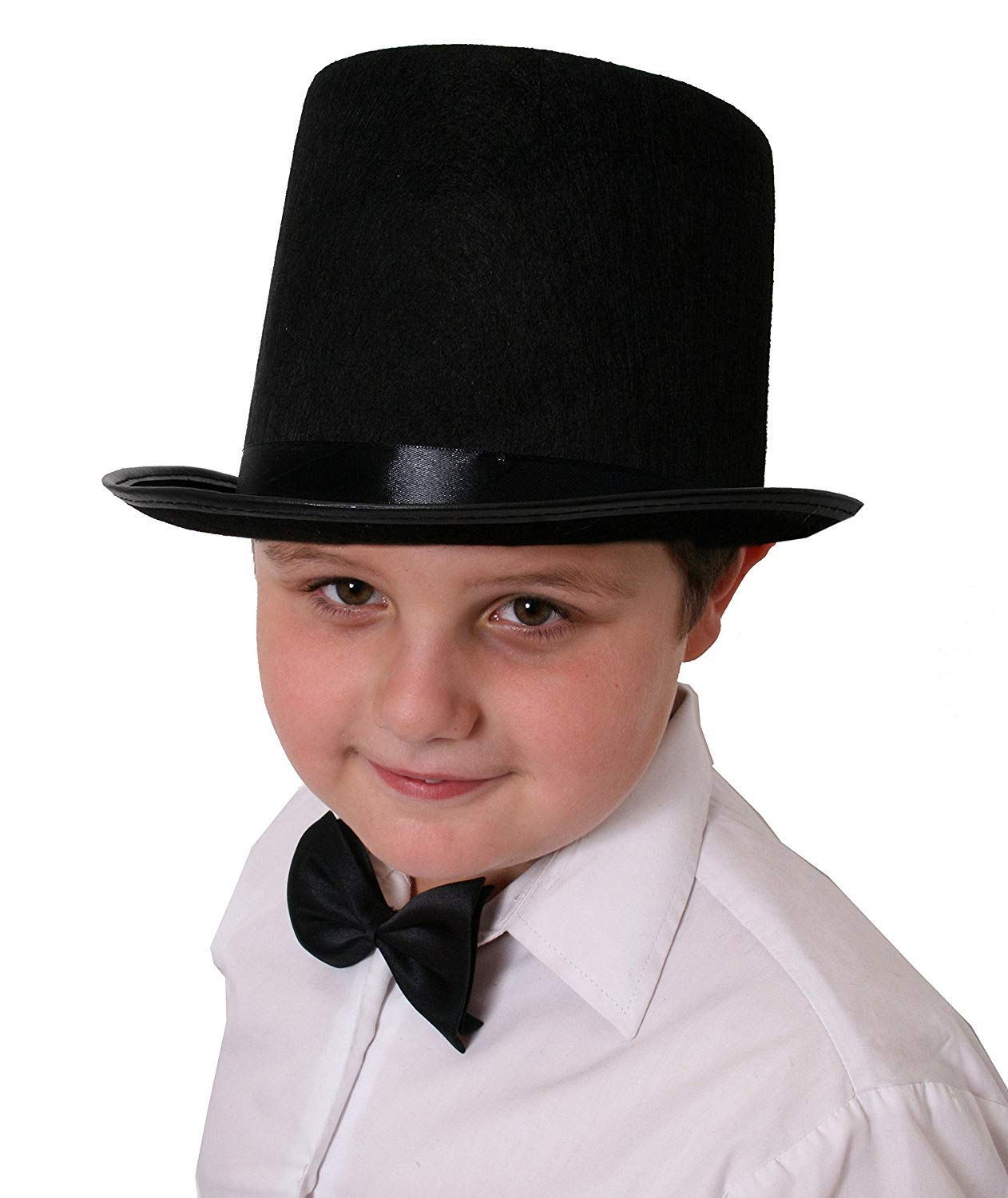0e706c77a4d CHILDRENS BLACK TOP HAT VICTORIAN OLD ENGLAND MAGICIAN PERFECT FOR ANY FANCY  DRESS PARTY FOR BOYS AND GIRLS  Amazon.co.uk  Toys   Games