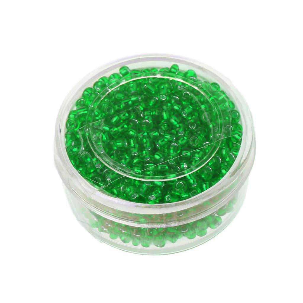 FXCO 800pcs Plata kralen Spacer Perlas Plisadas Checa Perlas de Cristal Joyas DIY