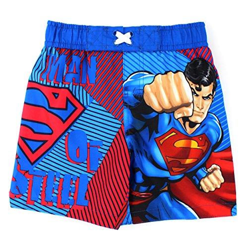 DC Comics Boys 2T-4T Superman Swim Trunk (2T)