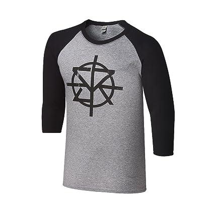 Seth Rollins Raglan WWE Authentic Gray / Black Shirt Redesign Rebuild Reclaim