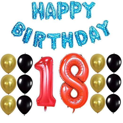 XHJZ-W Decoraciones de cumpleaños, Globos de Fiesta Dorados ...