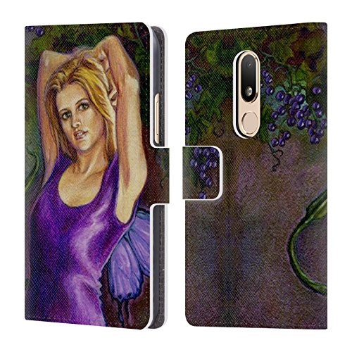 Erin Leather (Official Jane Starr Weils Erin Fairies 2 Leather Book Wallet Case Cover For Motorola Moto M)