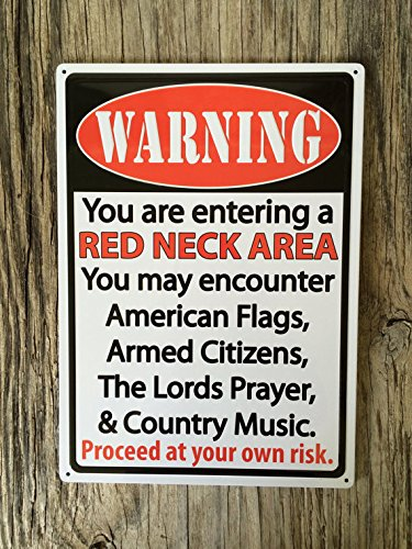 . Amazon com  funny redneck warning Metal Sign Tin Signs Retro Shabby