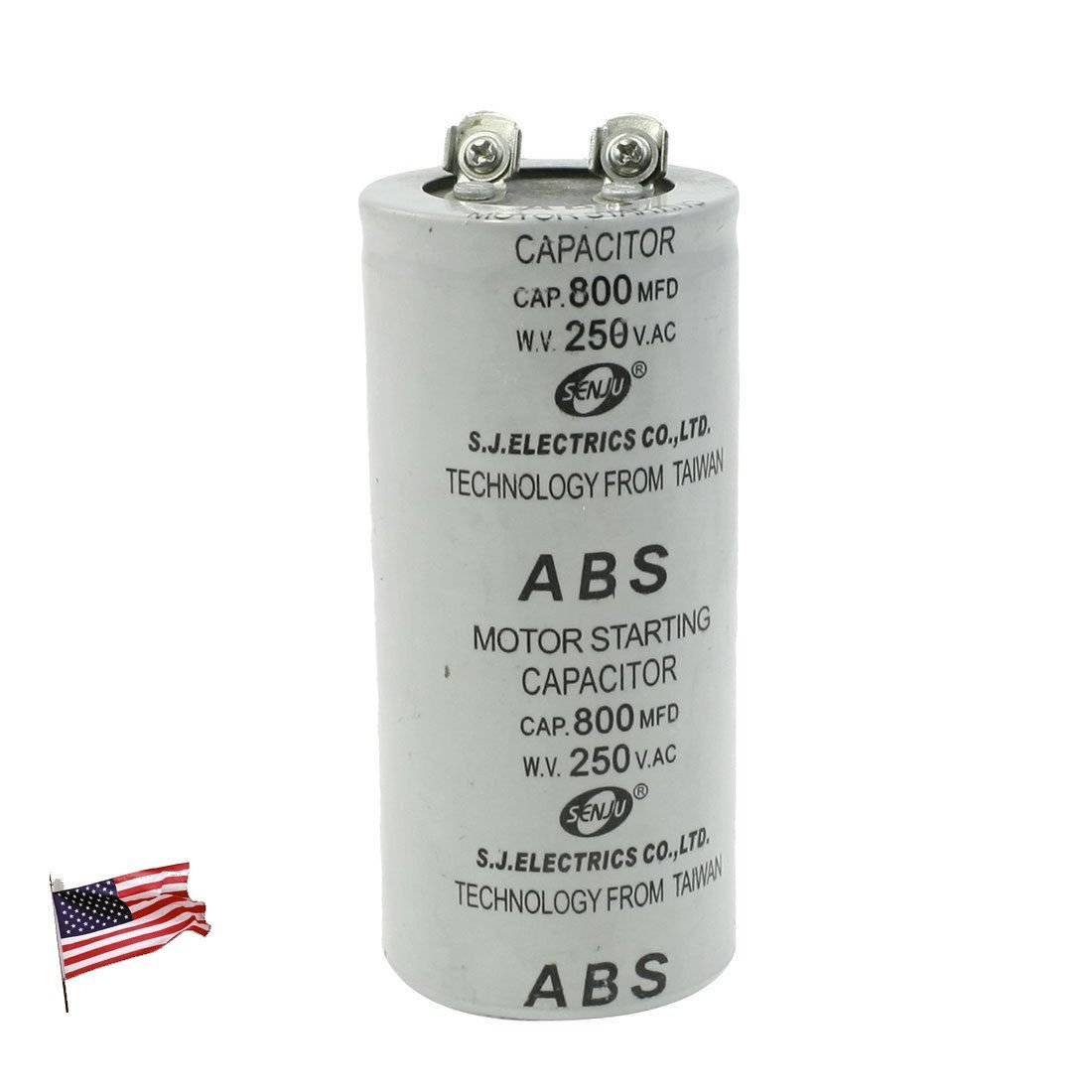 Capacitor US ABS 800MFD 800uF 250V Cylindrical AC Motor Starting by Capacitor