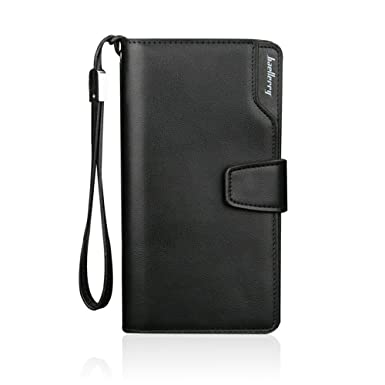 75bf5180b705 iVotre Wallet for Men, PU Leather, Multi-Card Slots, Tri-fold ...