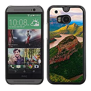 Soft Silicone Rubber Case Hard Cover Protective Accessory Compatible with HTC ONE M8 2014 - yuzhnaya afrika blyde river reka