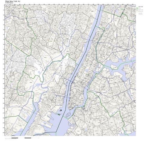 West New York, NJ ZIP Code Map (New York Zip Code Map)