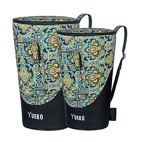 YUEKO Djembe Bag Sturdy Shoulder Straps and Durable African Drum Bag Triple-layer Construction 10/12 inch (12 inch)