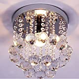 Mini Style 1 light Flush Mount Crystal Chandelier Deal (Small Image)