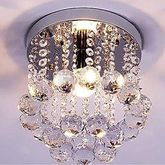 Mini Style 1 Light Flush Mount Crystal Chandelier