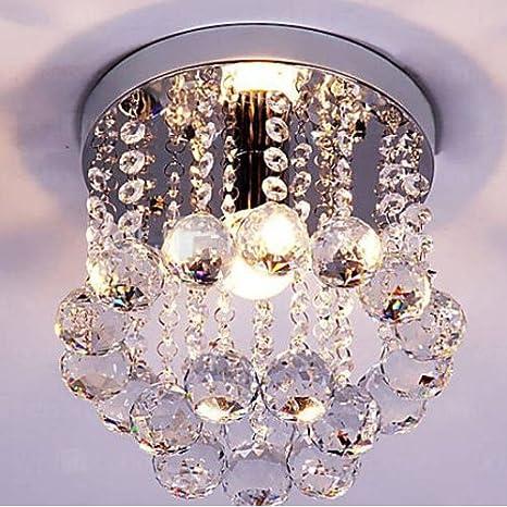 Mini style 1 light flush mount crystal chandelier amazon mini style 1 light flush mount crystal chandelier aloadofball Choice Image