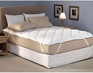 Amer Handicraft Cotton Waterproof Mattress Protector - King Size, White - 72 x 78