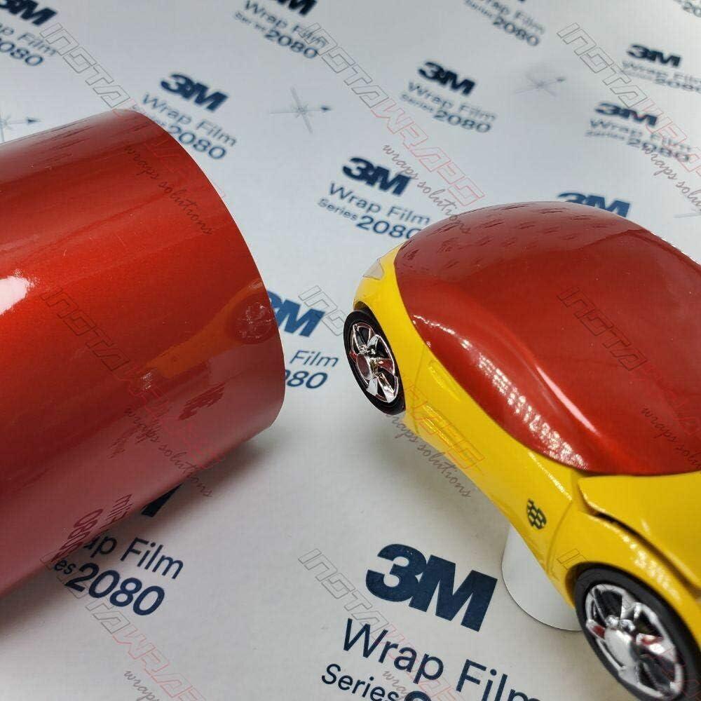 3M 1080 Gloss Dragon Fire Red   G363   Vinyl CAR WRAP Film (Sample 2.5in x 4in)