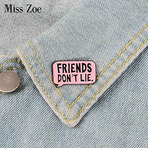 code de promo réduction jusqu'à 60% meilleur endroit pour Amazon.com: Friends Don't Lie Enamel Pin Pink Badge Brooch ...