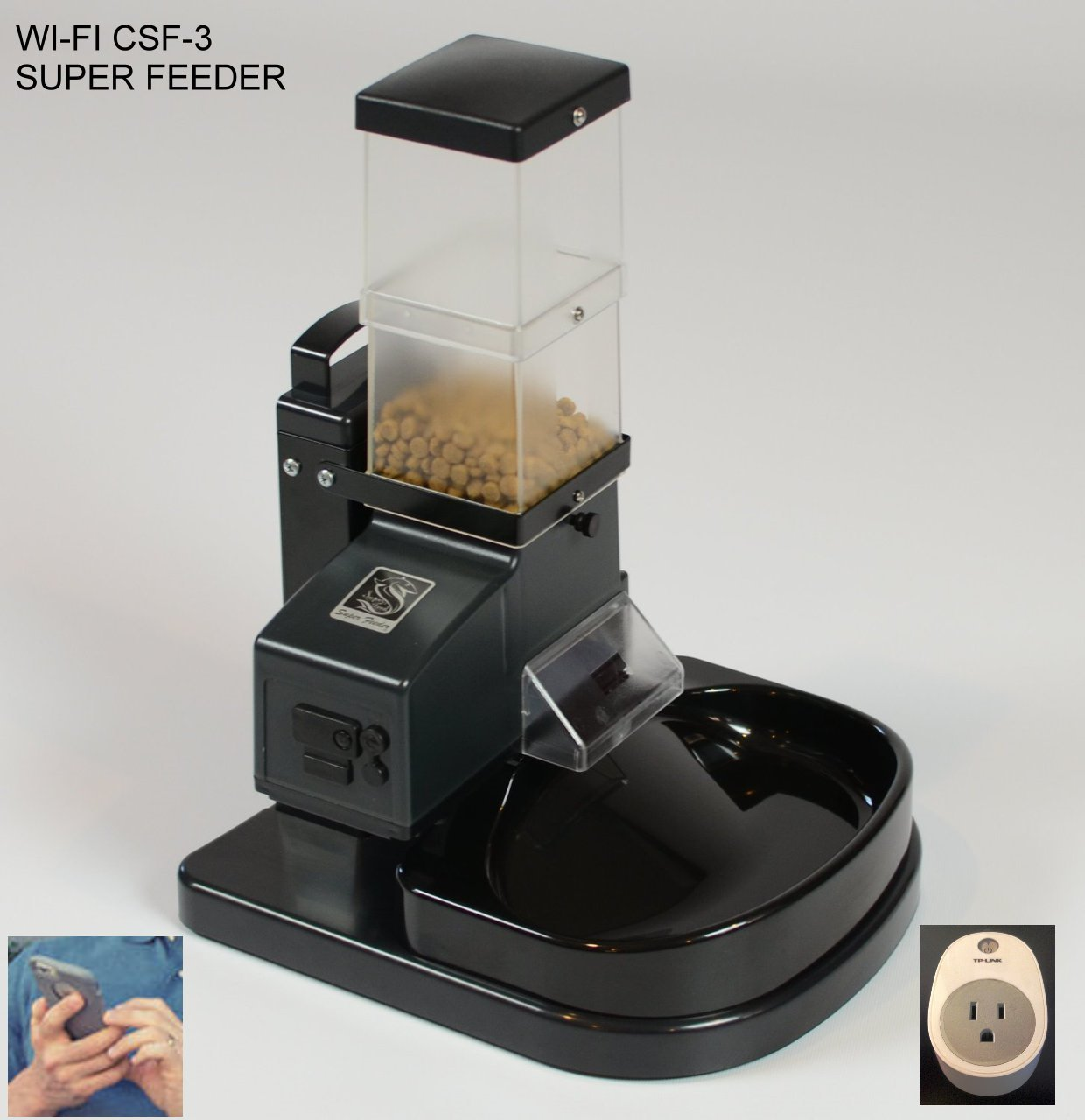Automatic Cat Super Feeder CSF-3 with Wi-Fi Plug for Alexa, Iphone, etc... on sale