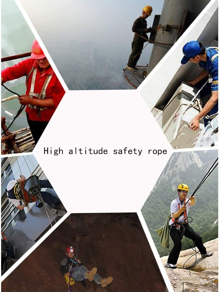 Outdoor Rope wear-Resistant Aerial Work Rope Tool Rope Field Insurance Rescue Rope Color : 10.5mm, Size : 80m Jingdun Safety Rope Multi-Size Optional Ropes