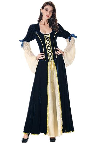 lancoszp Vestido Victoriano Retro de Mujer Vestido con ...