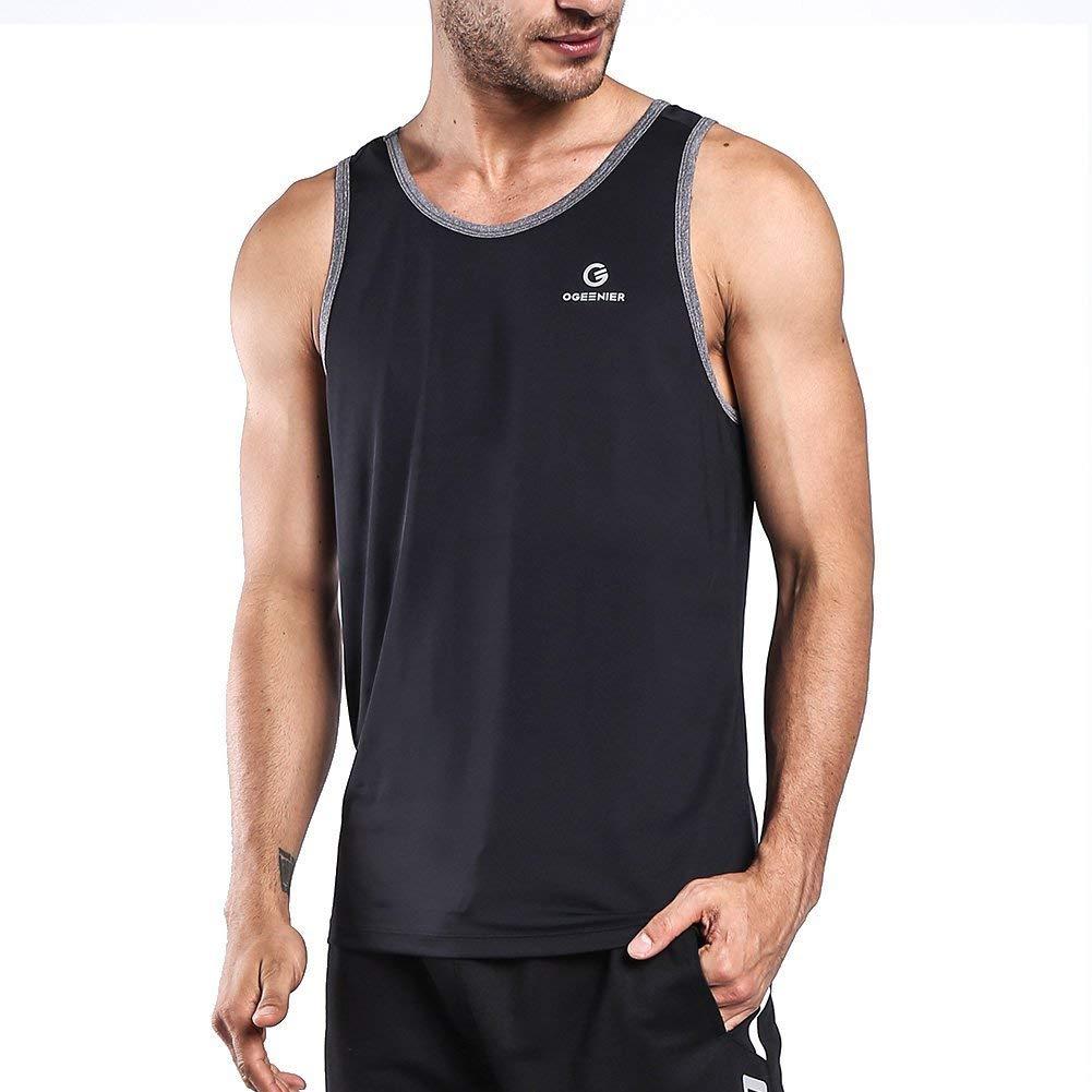 5e1866d7940d Ogeenier Men s Running Tank Top Shirt Fitness Tank Top Singlet ...