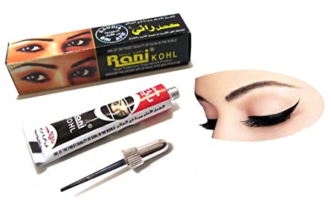 Amazon.com : 100% Original Rani Kohl Kajal Paste Eyeliner Black Aswad Finest Quality Art (1 Rani Kajal) : Beauty