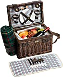 Picnic & Beyond Willow & Wood Picnic Basket for 2 (Darkbrown) Review