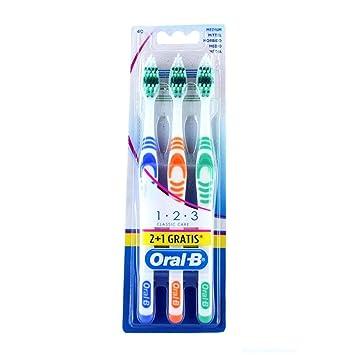 Set 72 ORAL B Cepillo de dientes clásica Medio 3 partes limpieza higiene bucal limpieza: Amazon.es: Belleza