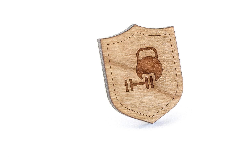 Mancuerna y pesa rusa – Pin, Pin de madera y corbata Tack ...