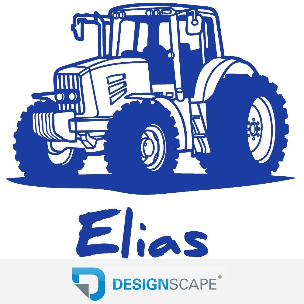 DESIGNSCAPE® DESIGNSCAPE® DESIGNSCAPE® Wandtattoo Traktor mit Wunschname   Wandtattoo Junge Kinderzimmer 90 x 60 cm (Breite x Höhe) schwarz DW808182-M-F4 B071VV5C47 Wandtattoos & Wandbilder ef6970