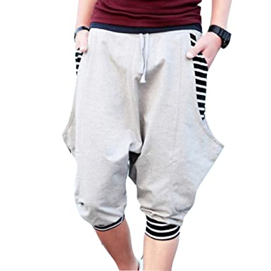Juqilu Pantalon jogging corto para Hombre - Pantalones Harem ...