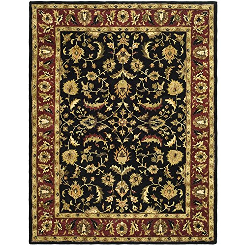 Safavieh Heritage Collection HG953A Handcrafted Traditional Oriental Black and Red Wool Area Rug (9' x 12') (Oriental Rugs Wool)