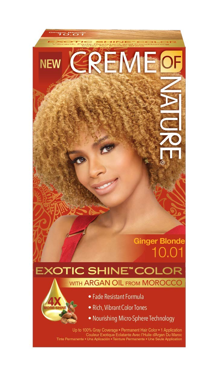 Creme of Nature Exotic Shine Color, Ginger Blonde, 10.01 Fluid Ounce