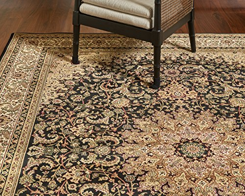 (Gertmenian 21250 Medallion Platinum Label Oriental Persian Area Carpet, 8x10 Large, Black Tan)