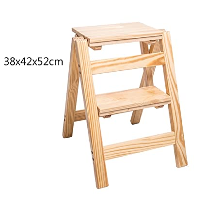 Terrific Amazon Com Solid Wood Step Stool Household Multi Functional Ibusinesslaw Wood Chair Design Ideas Ibusinesslaworg