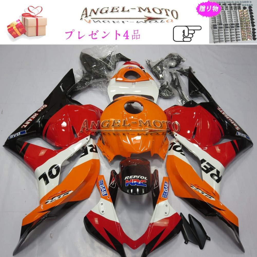 Angel-moto バイク外装パーツ 対応車体 Honda ホンダ CBR600RR 2009 2010 2011 2012 F5 CBR 600 CBR600 09-12 カウル フェアキット ボディ機械射出成型ABS樹脂 フェアリング パーツセット フルカウルセットの H115   B07JHSMCGX
