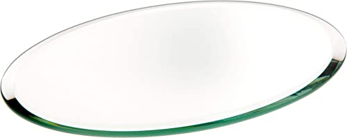 Plymor Oval 3mm Beveled Glass Mirror, 4 inch x 6 inch Pack of 24