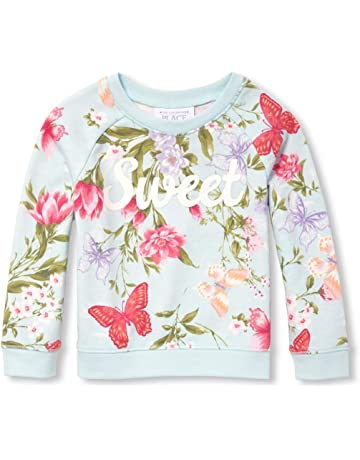 8db9ac9d0 The Children's Place Girls' Baby Long Sleeve Floral Printed Sweater