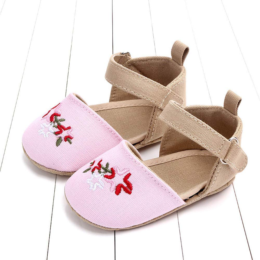 NUWFOR Cute Baby Girls Newborn Infant Cartoon Floral Casual First Walker Toddler Shoes(Pink,0-3Months) by NUWFOR (Image #1)