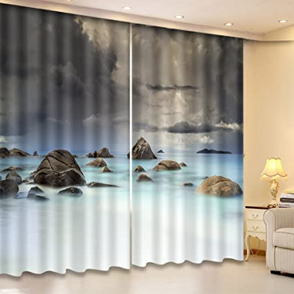 Amazon Com Lb 3d Curtains For Bedrooms Ocean Curtains Collection 2