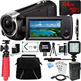 Sony HDR-CX405/B Full HD 60p Camcorder + 64GB Micro SD Memory Card + NP-BX1 Battery Pack + Accessory Bundle