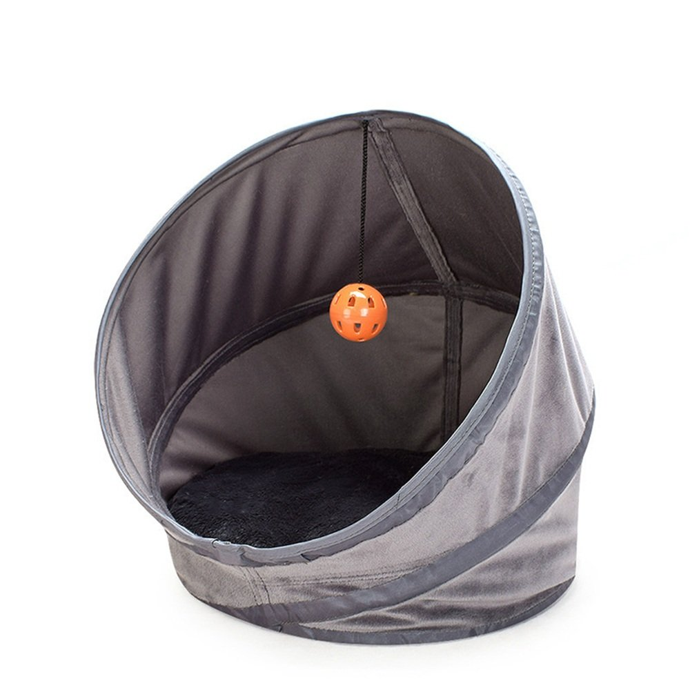 Medium Yhjklm Warm pet nest Folding Tent Cat Litter Four Seasons Comfortable Portable Pet Nest Kennel Cat Tunnel. cozy (Size   M)