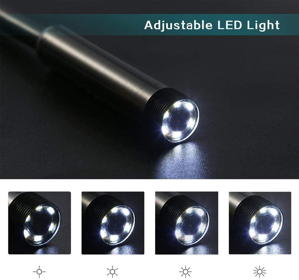 impermeable Endoscopio con 6 luces LED de 5,5 mm para lente de c/ámara de enfoque para Android Focus