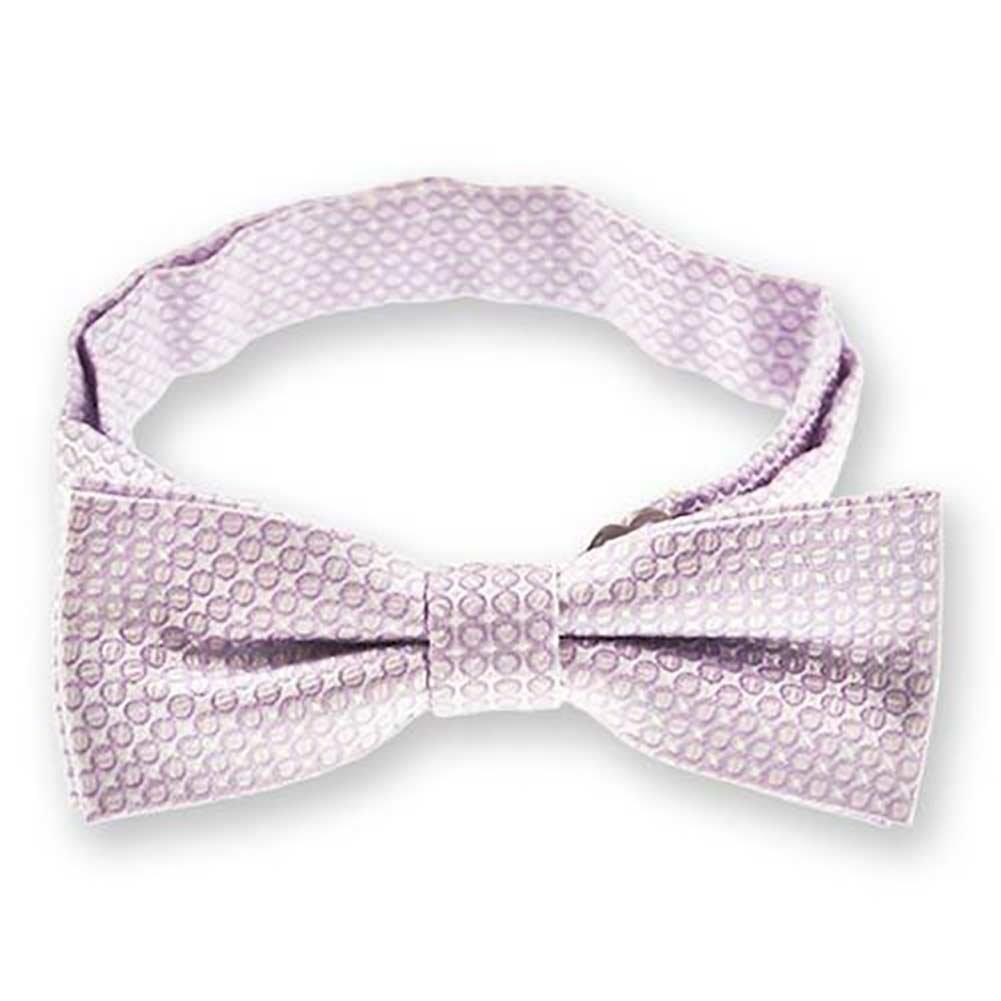 TieMart Boys Pale Lavender Henry Grain Pattern Bow Tie