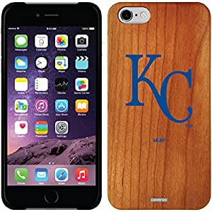 Coveroo iphone 5c Madera Wood Thinshield Case with Kansas City Royals KC in Blue Design