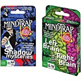 MindTrap Card Games 2-Pack Bundle with Shadow Mystery and Left Brain Right Brain