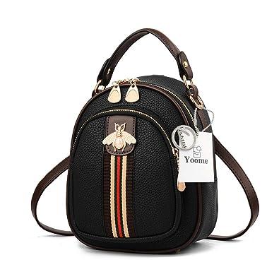 Amazon.com  Yoome Women Designer Mini Clutch Bee Bag Shoulder Small  Backpack Purse Stylish Crossbody Handbags - Black  Shoes 7a0b09c523d5e