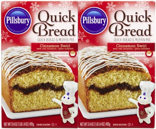 Pillsbury Cinnamon Swirl Quick Bread Mix, 17.4 oz, 2 pk