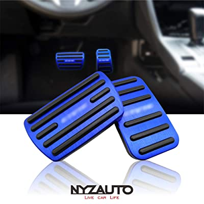 NYZAUTO Anti-Slip Performance Foot Pedal Pads for Honda 10th Civic,Auto No Drilling Aluminum Brake and Accelerator Pedal Covers Blue: Automotive
