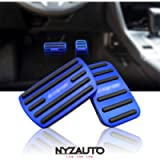 NYZAUTO Anti-Slip Performance Foot Pedal Pads Compatible with Honda 10th gen Civic,Auto No Drilling Aluminum Brake and…