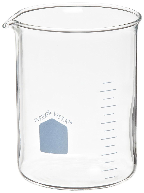 Corning Pyrex Vista Low Form Beakers, 400 mL Capacity (Pack of 12) 529627